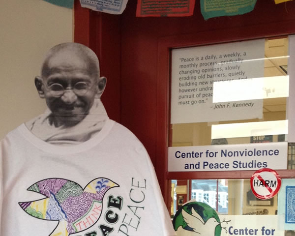 Gandhi at the Center for Nonviolence and Peace Studies, University of Rhode Island