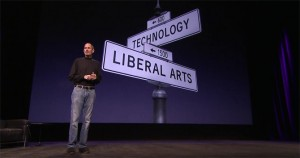 Steve Jobs - street signs Liberal Arts + Technology