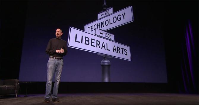 Steve Jobs - street signs Liberal Arts + Technology