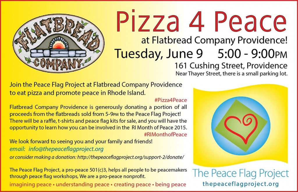 Pizza4Peace flyer